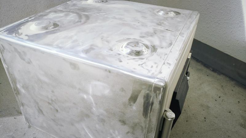 ディスクグラインダー(18V充電式125mm GA508DZ)で鉄の塗装剥がし -12-