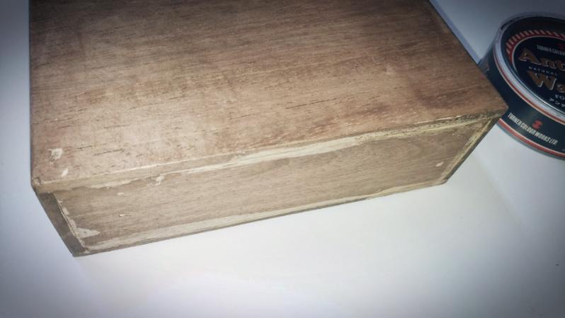 木箱の製作(小物)ファルカタ材&アンティークワックス(ウォールナット) -3-