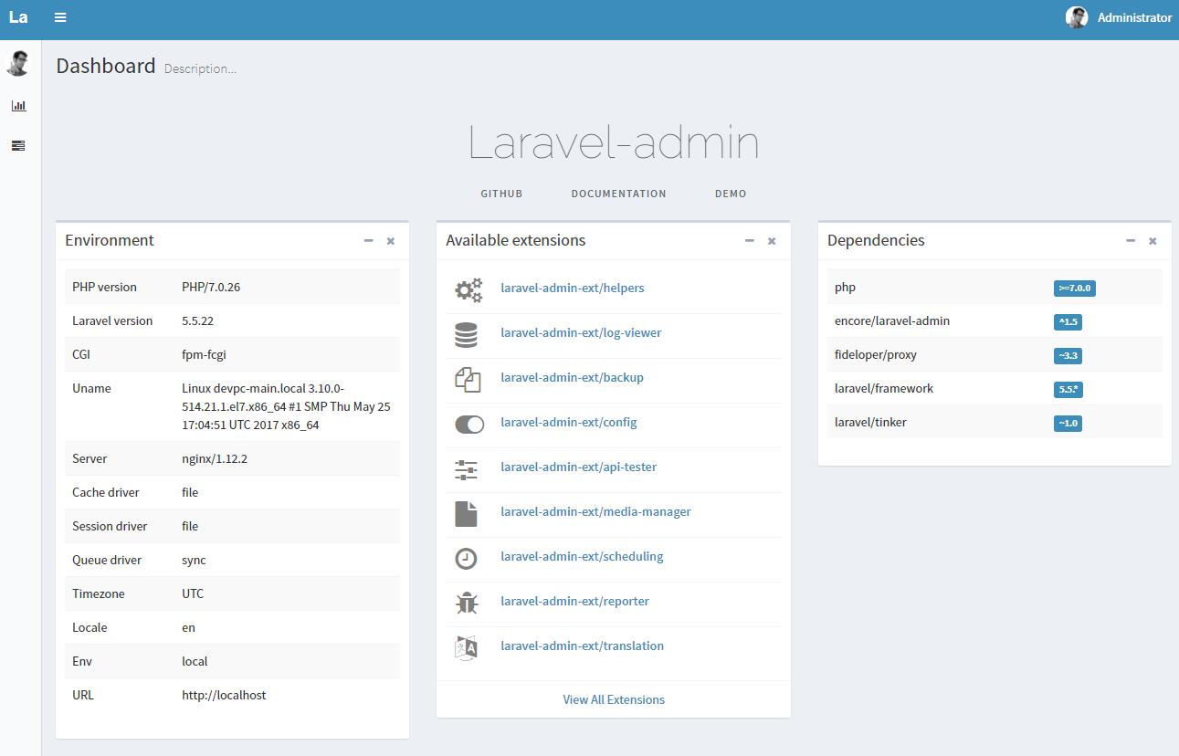 laravel-admin CMS構築 -2-