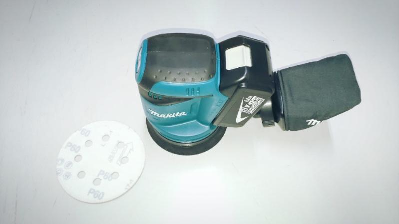 マキタの充電式ランダムオービットサンダ(BO180DRFBO180DZ)で鉄塗装剥がし -7-