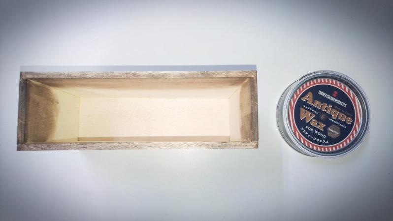 木箱の製作(小物)ファルカタ材&アンティークワックス(ウォールナット) -2-