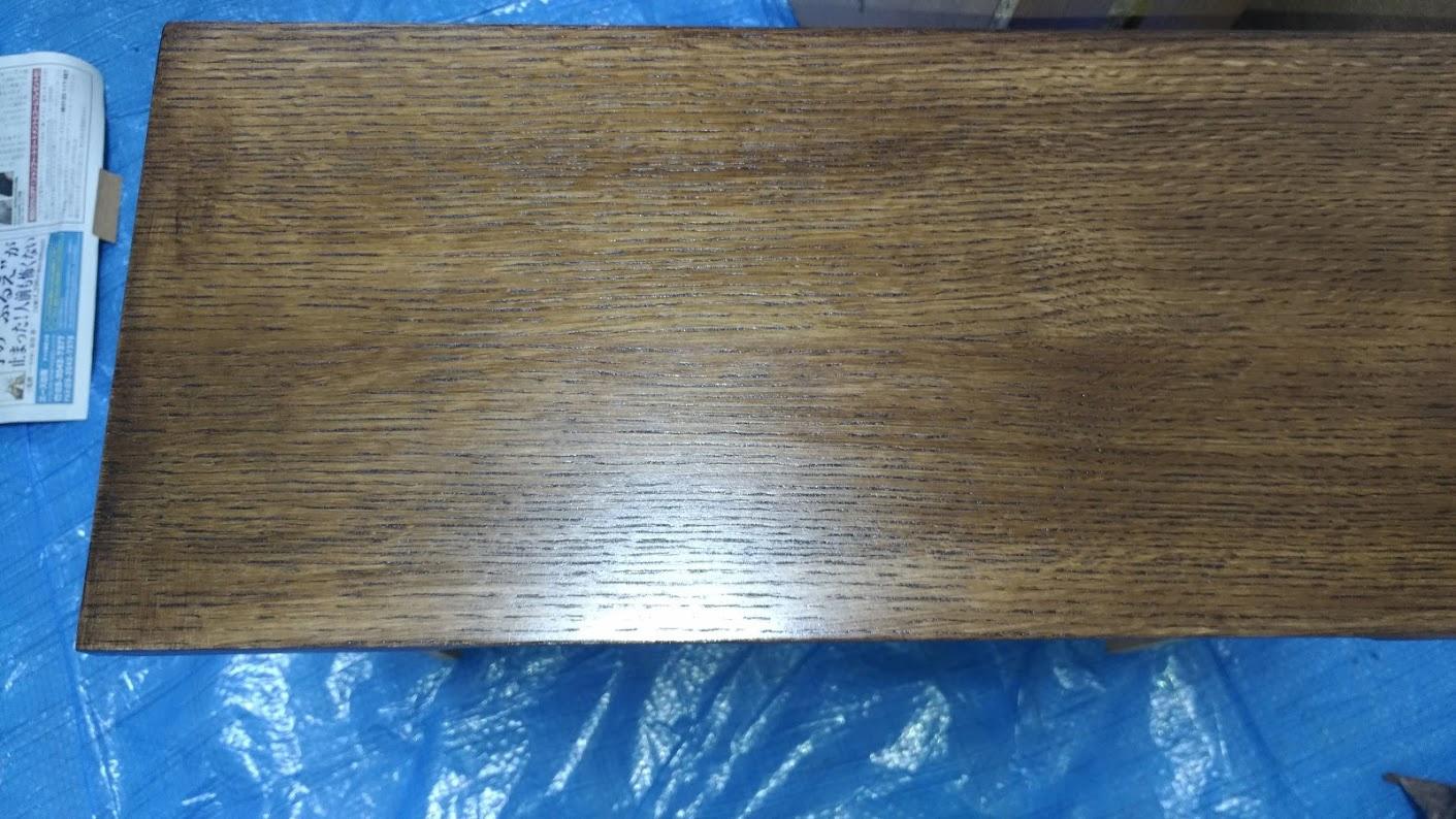 テレビボード塗装 オスモカラーウッドワックス ウォルナット エボニー -21-