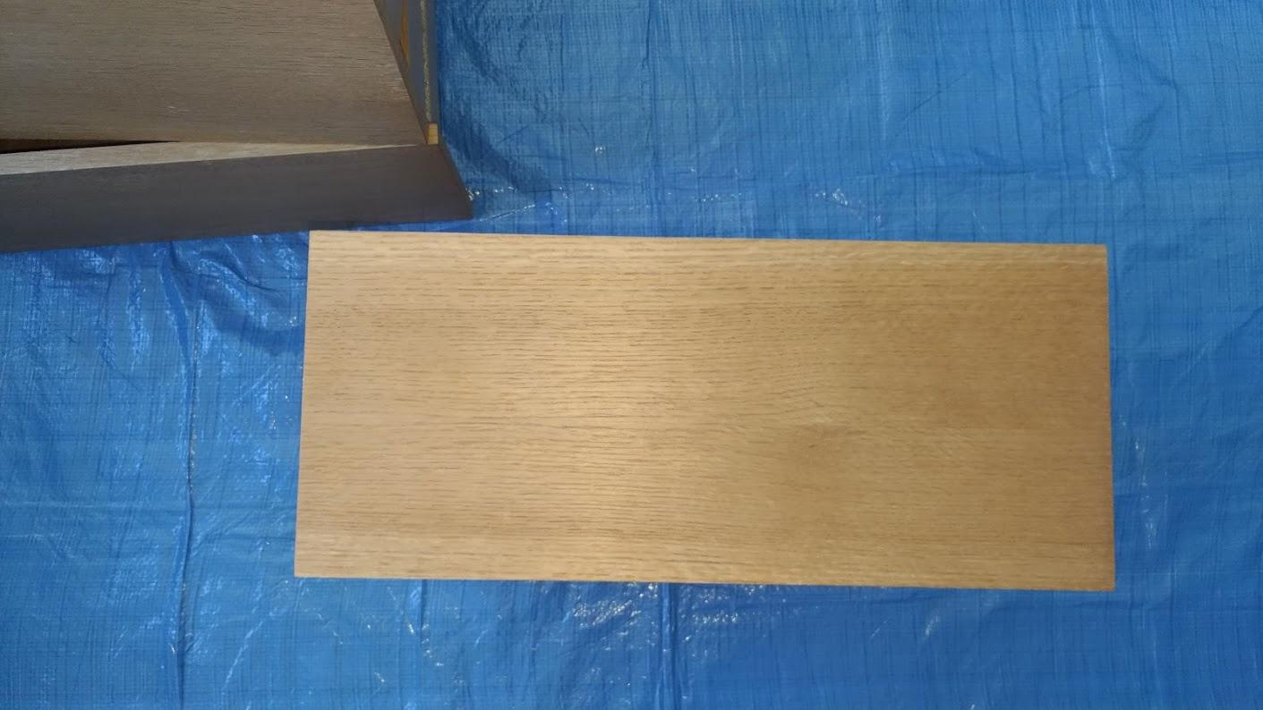 テレビボード塗装 オスモカラーウッドワックス ウォルナット エボニー -2-