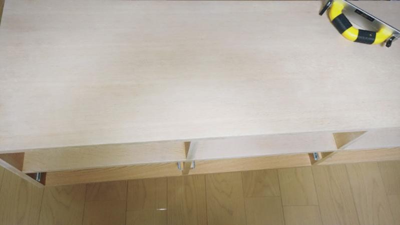 テレビボード塗装 オスモカラー オーク -2-
