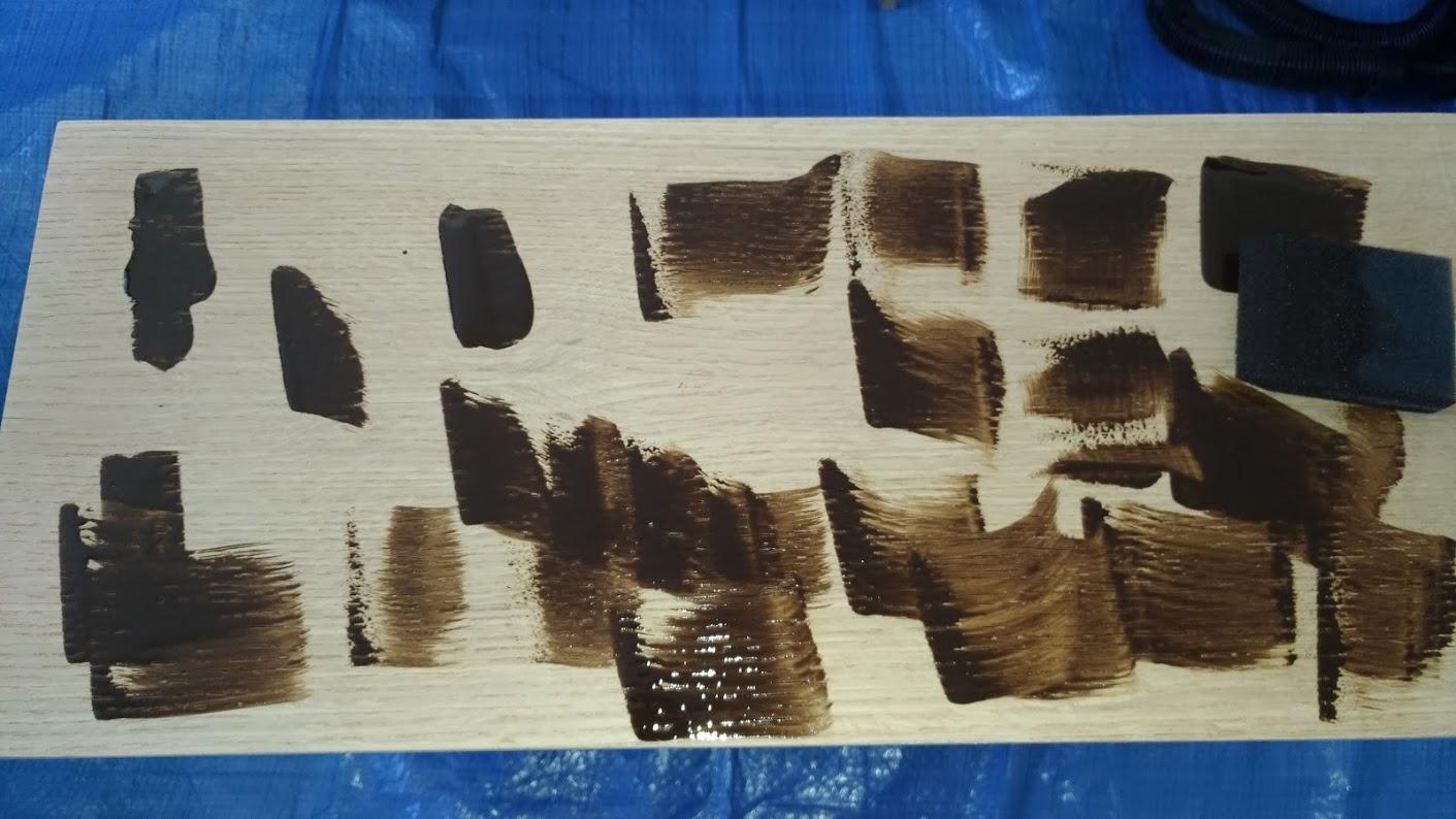 テレビボード塗装 オスモカラーウッドワックス ウォルナット エボニー -16-