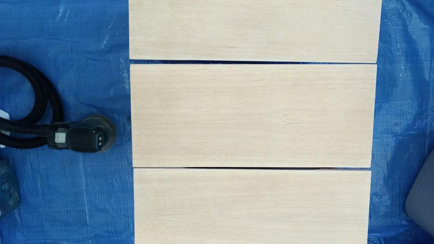 テレビボード塗装 オスモカラーウッドワックス ウォルナット エボニー -10-