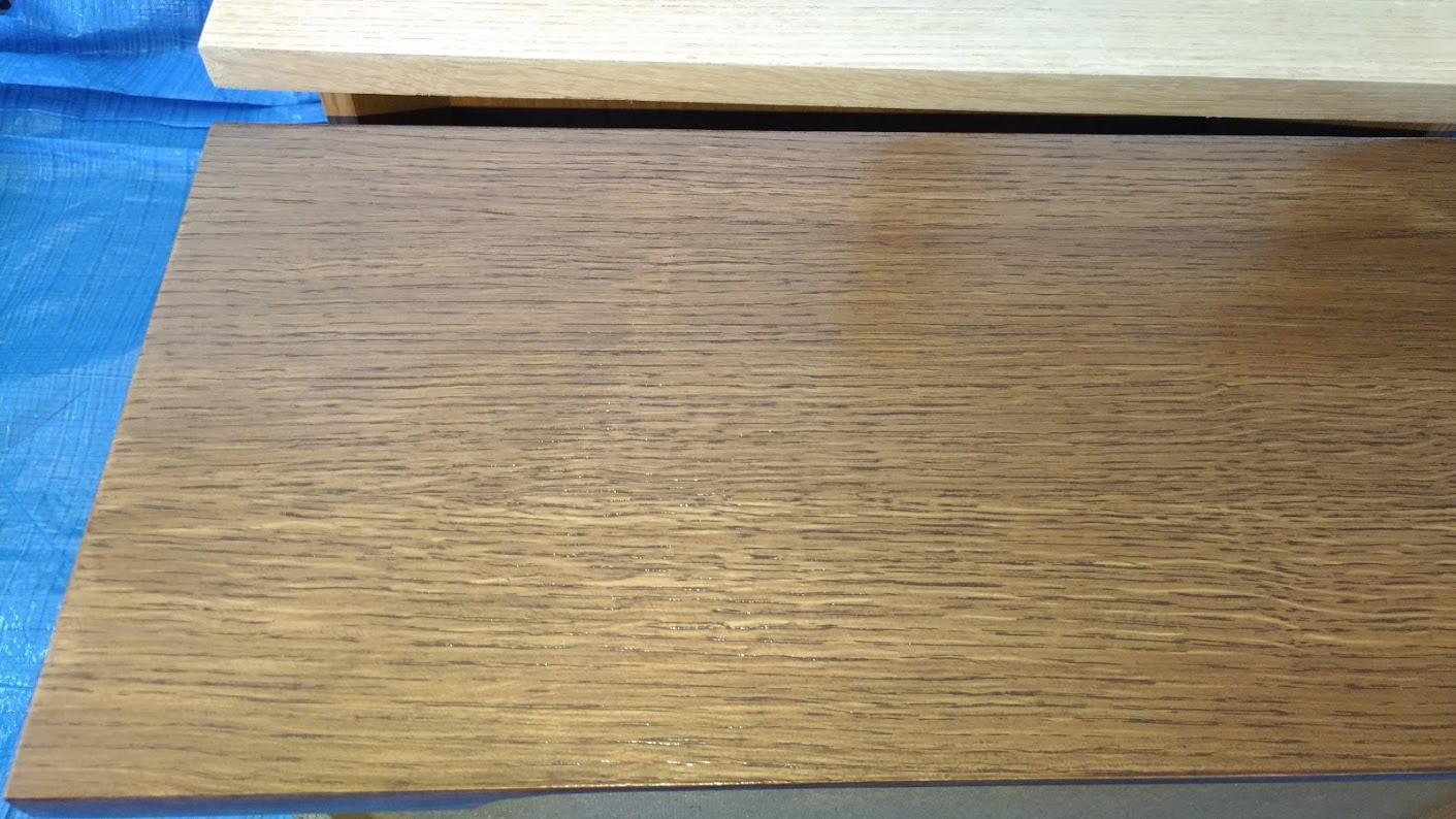 テレビボード塗装 オスモカラーウッドワックス ウォルナット エボニー -15-