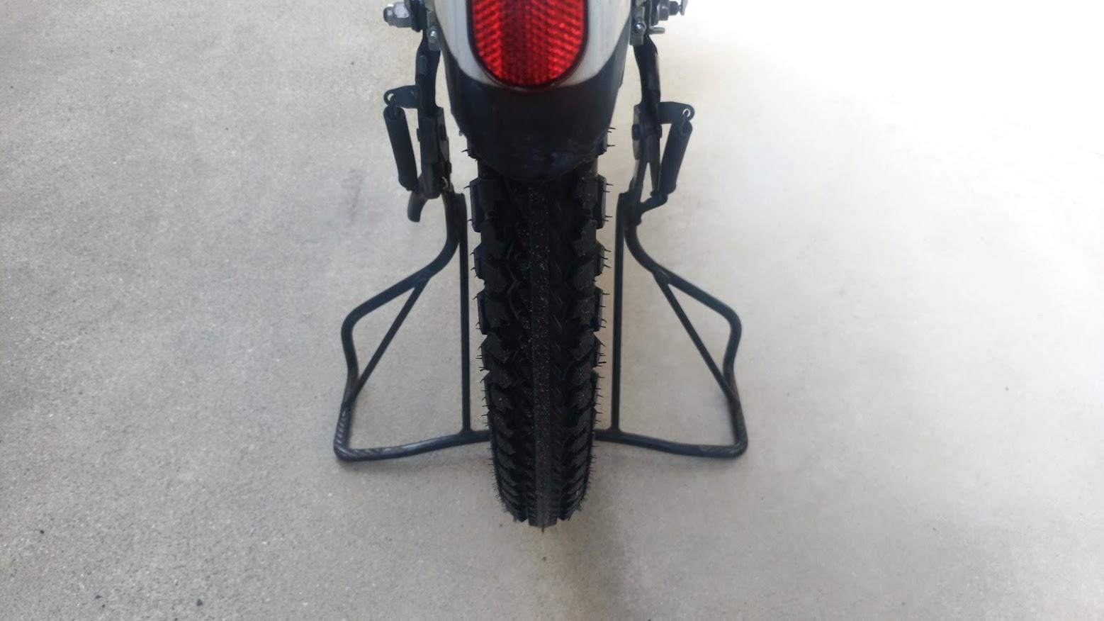 ブリヂストン hydee2 子供電動自転車 パンク タイヤ交換 -19-