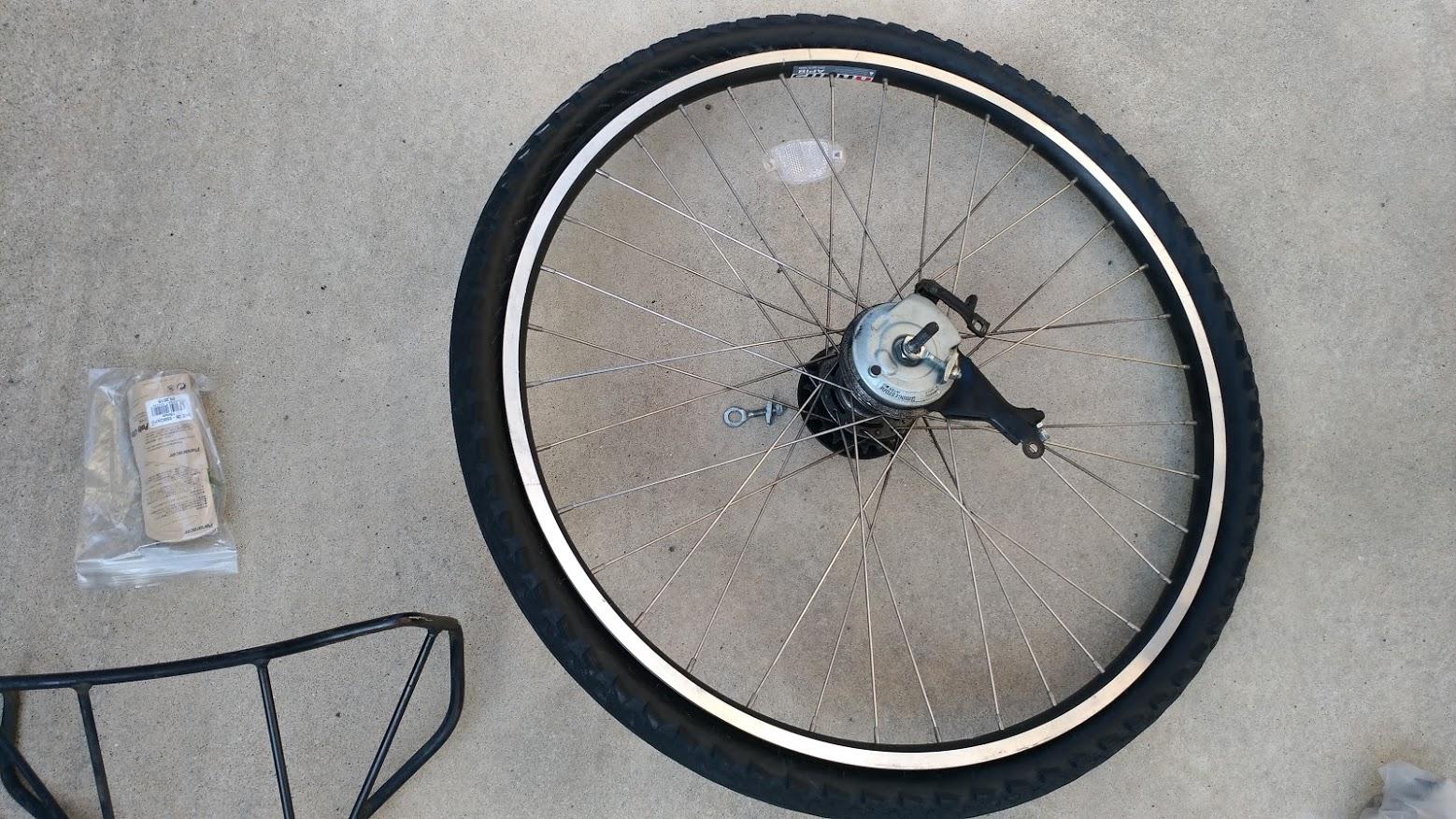 ブリヂストン hydee2 子供電動自転車 パンク タイヤ交換 -6-