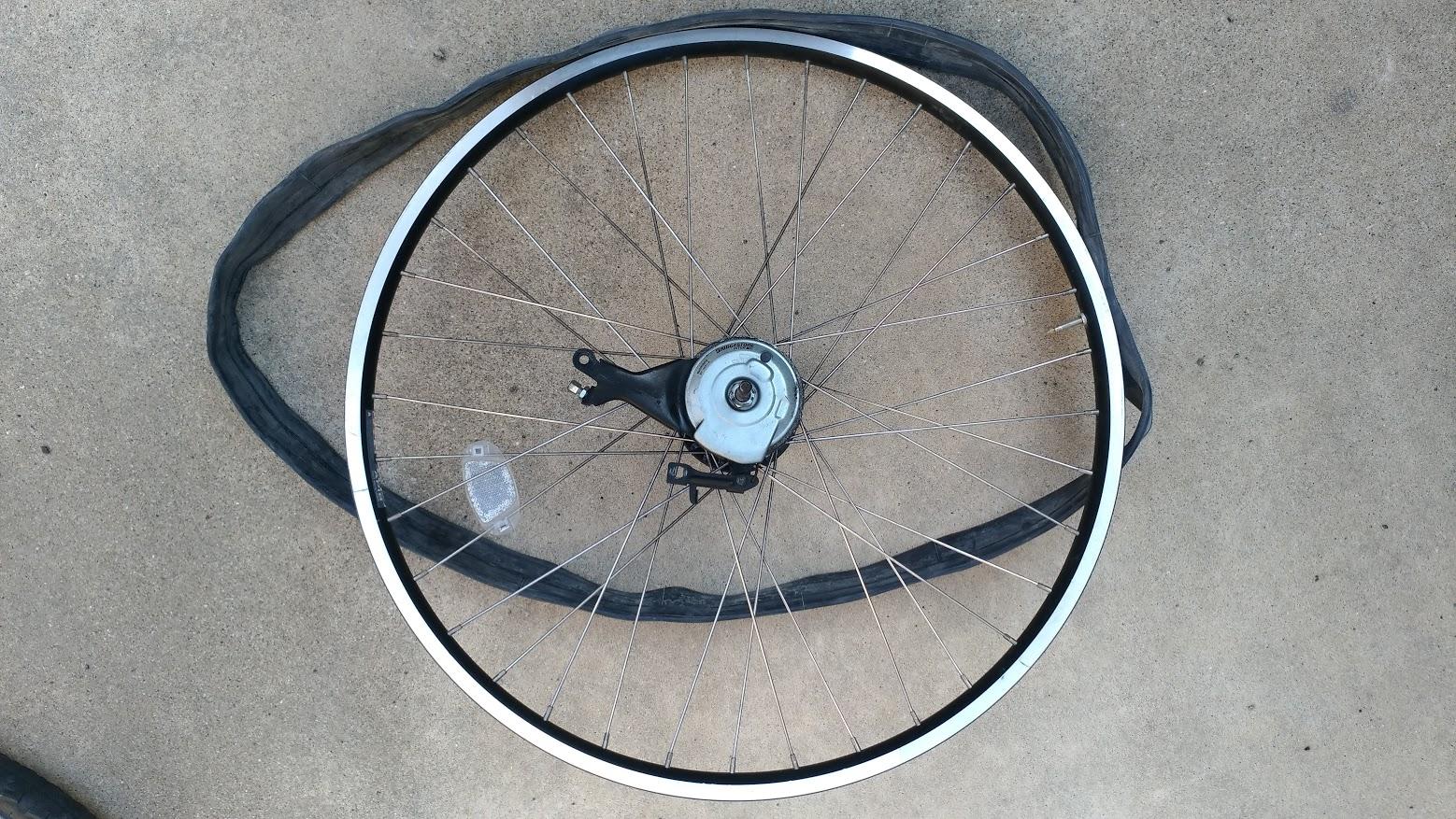 ブリヂストン hydee2 子供電動自転車 パンク タイヤ交換 -12-