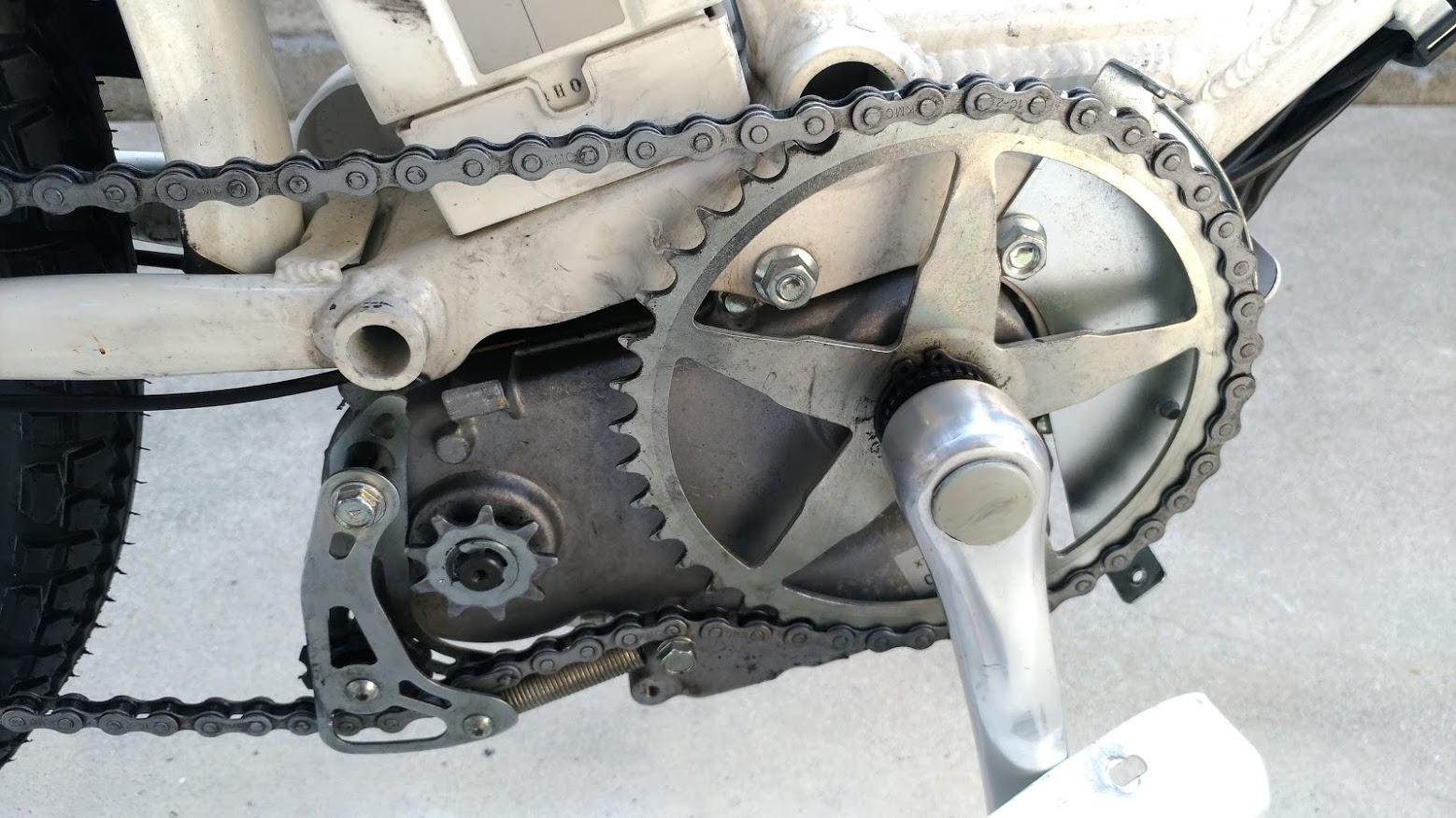 ブリヂストン hydee2 子供電動自転車 パンク タイヤ交換 -17-