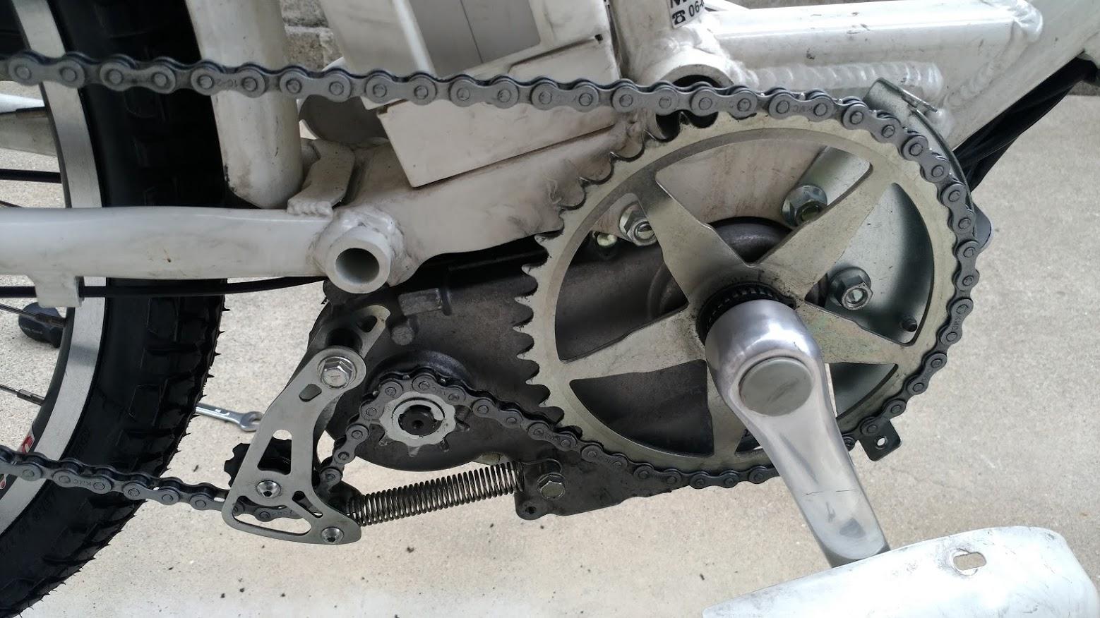 ブリヂストン hydee2 子供電動自転車 パンク タイヤ交換 -18-