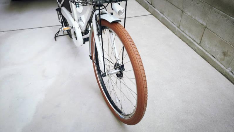 自転車 タイヤ シュワルベ ビッグベン 26×2.15 ブラウン 交換 -10-