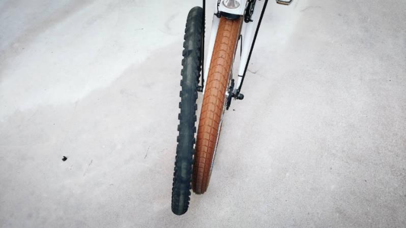 自転車 タイヤ シュワルベ ビッグベン 26×2.15 ブラウン 交換 -12-