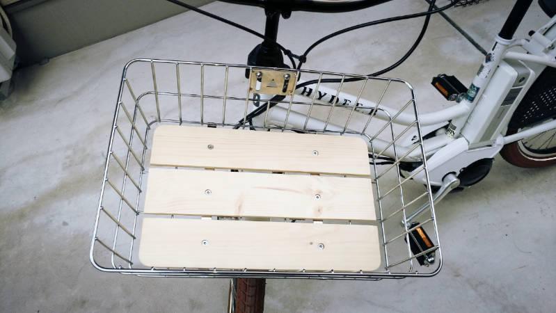 電動自転車 HYDEE2-ハイディーツー- 木製板 カゴ 交換 -8-