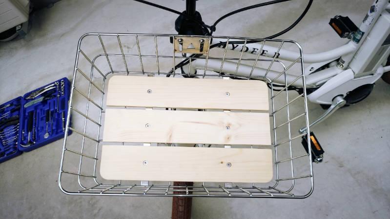電動自転車 HYDEE2-ハイディーツー- 木製板 カゴ 交換 -6-