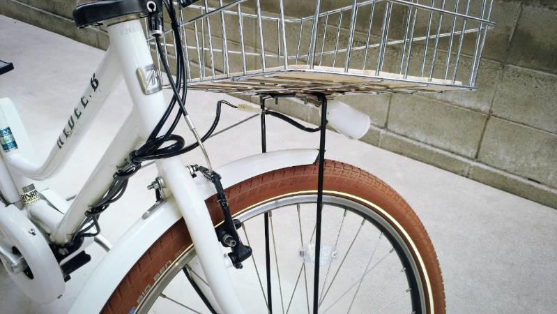 電動自転車 HYDEE2-ハイディーツー- 木製板 カゴ 交換 -9-
