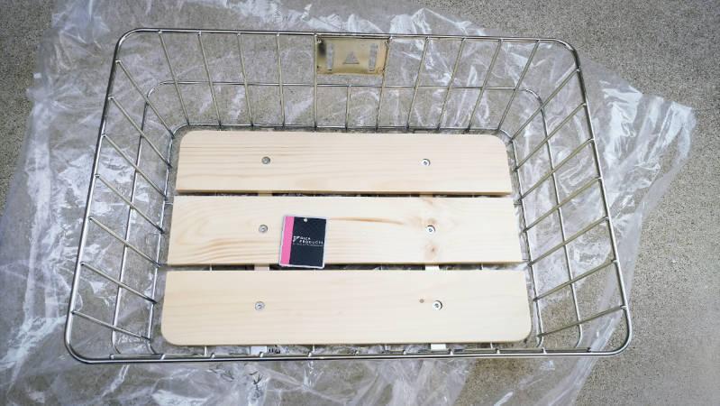 電動自転車 HYDEE2-ハイディーツー- 木製板 カゴ 交換 -4-