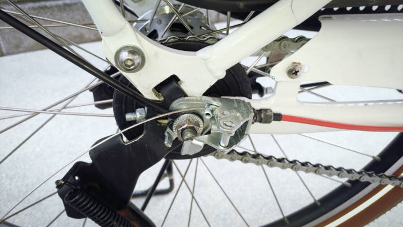 電動自転車 HYDEE2-ハイディーツー- 内装3段 シフト ケーブル 交換 -9-