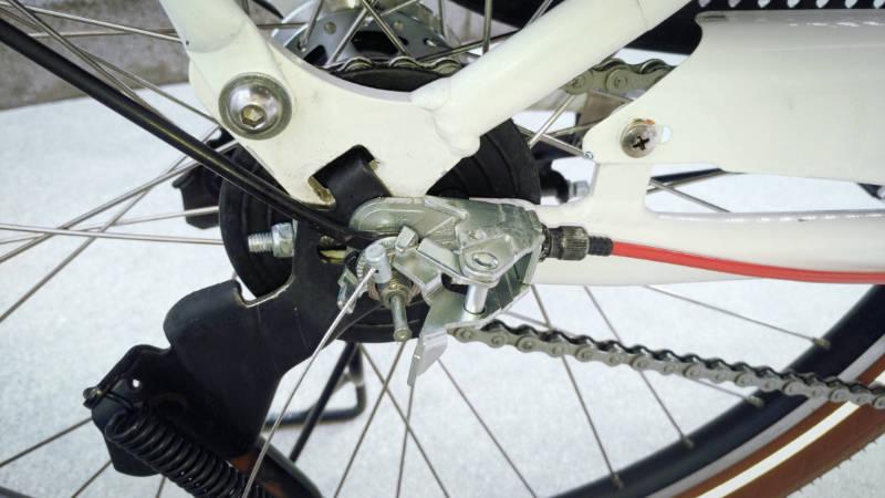 電動自転車 HYDEE2-ハイディーツー- 内装3段 シフト ケーブル 交換 -7-