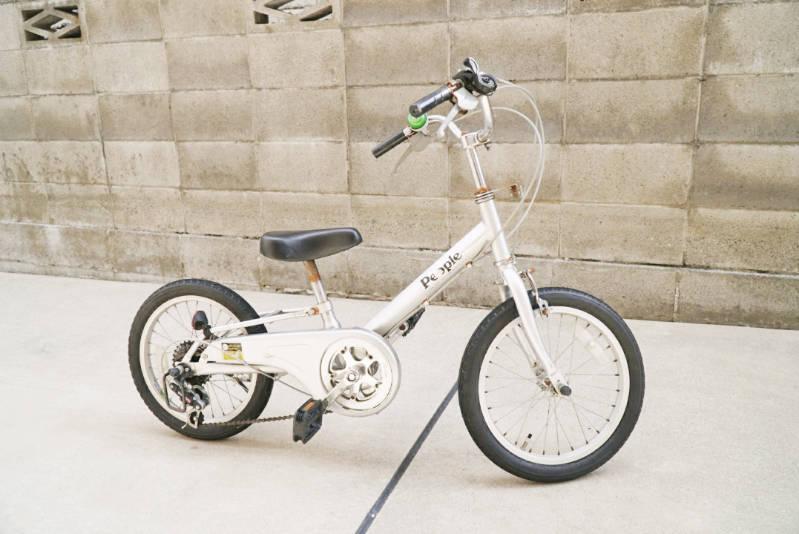 幼児用・子供自転車(16インチ)の錆落とし 泥よけ・フェンダー取り外し後