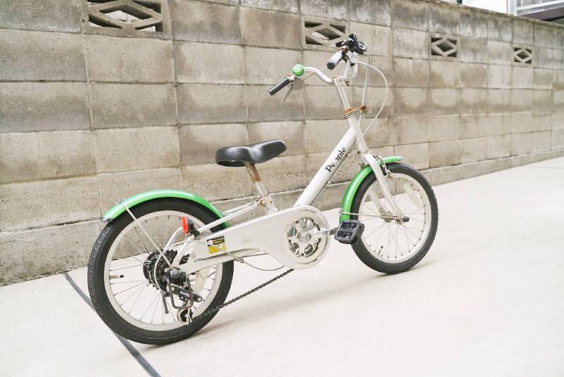 幼児用 子供自転車 自分で修理・メンテナンス 全体写真 後ろから