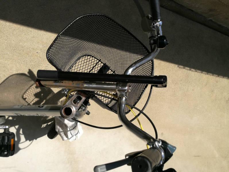 幼児用・子供自転車のハンドルをフラットバーに変更 既存のステムとの長さを比較