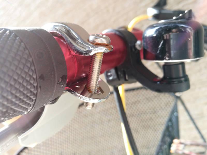 幼児用・子供自転車(16インチ) 部品交換 ブレーキ・レバー-シフトレバー-ケーブル ブレーキその後