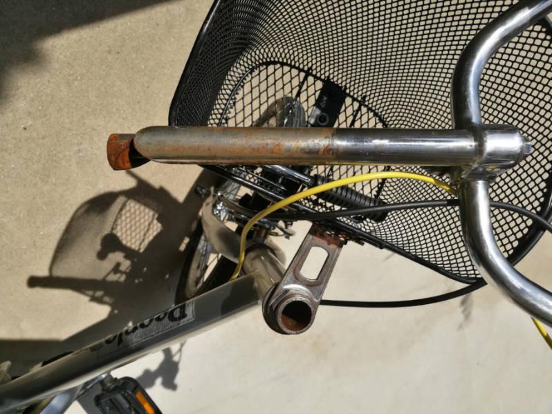 幼児用・子供自転車のハンドルをフラットバーに変更 ステムの交換