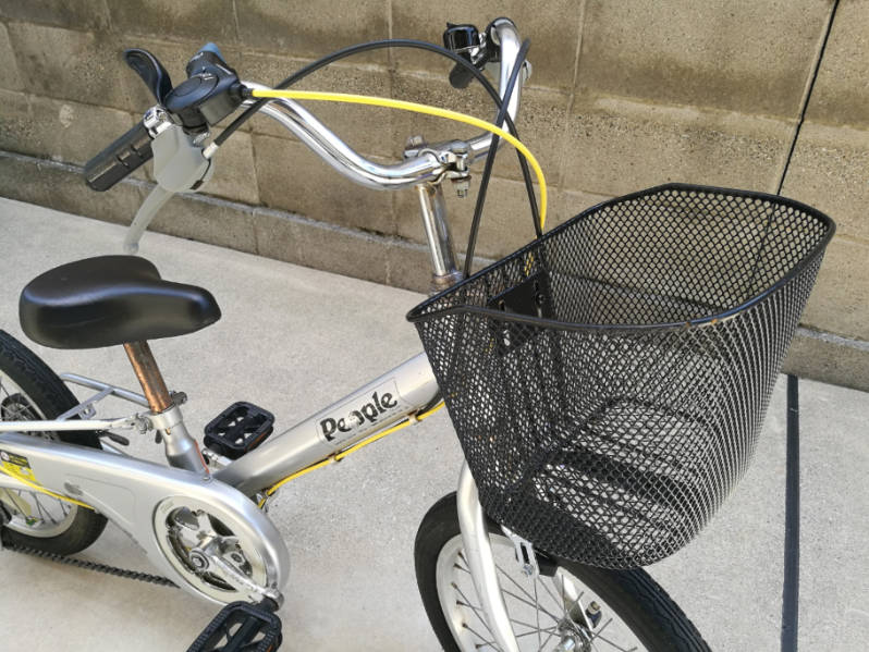 幼児用・子供自転車のハンドルをフラットバーに変更 交換前