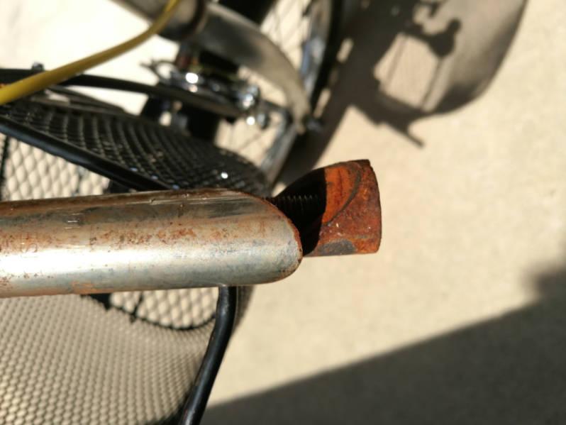 幼児用・子供自転車のハンドルをフラットバーに変更 古いステム