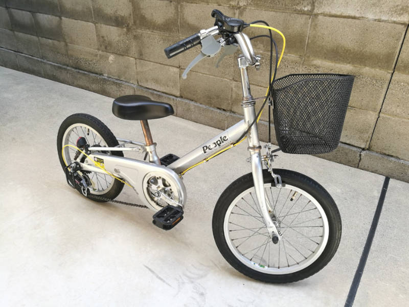 幼児用・子供自転車(16インチ) 部品交換 ブレーキ・レバー-シフトレバー-ケーブル 完成