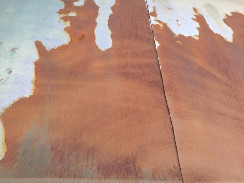 アサヒペン油性高耐久鉄部用塗料 玄関屋根 修理 -1-