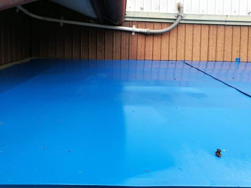 アサヒペン油性高耐久鉄部用塗料 玄関屋根 修理 -5-