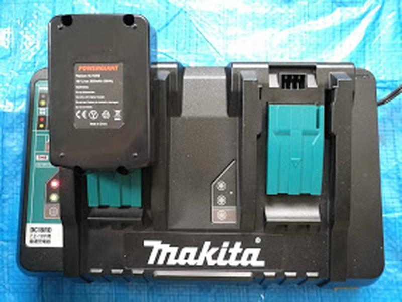 マキタの急速充電器-DC18RD,DC18SD-で互換バッテリー -2-