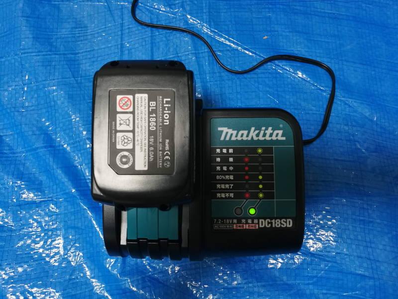 マキタの急速充電器-DC18RD,DC18SD-で互換バッテリー -4-