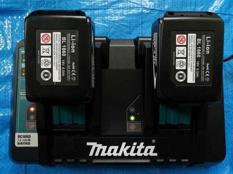 マキタの急速充電器-DC18RD,DC18SD-で互換バッテリー -1-