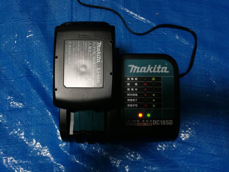 マキタの急速充電器-DC18RD,DC18SD-で互換バッテリー -5-