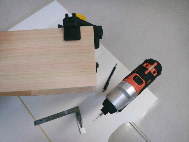 檜 集成材 木箱 小物入れ 未晒し蜜ロウワックス 塗装 -10-