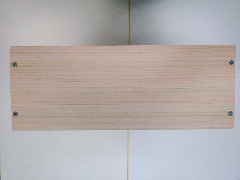 檜 集成材 木箱 小物入れ 未晒し蜜ロウワックス 塗装 -11-