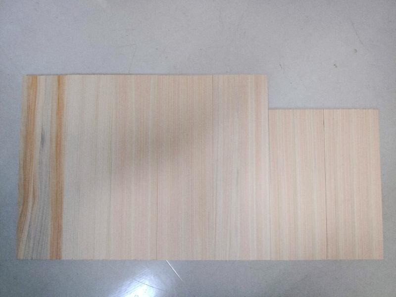 檜 集成材 木箱 小物入れ 未晒し蜜ロウワックス 塗装 -5-