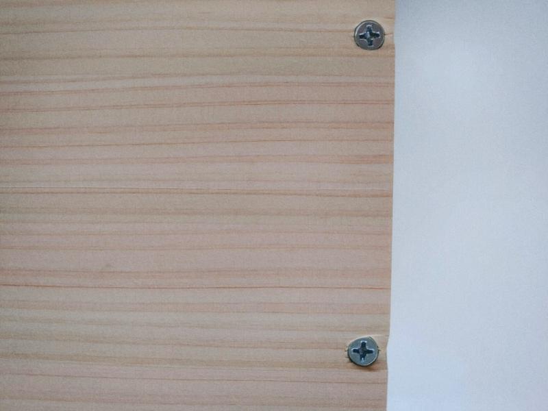 檜 集成材 木箱 小物入れ 未晒し蜜ロウワックス 塗装 -12-