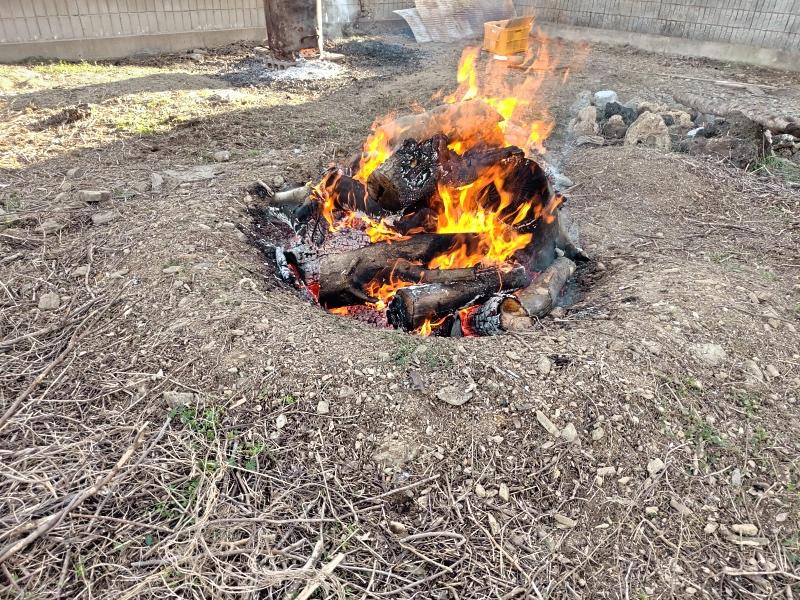 採伐 剪定 木材 焼却処分 炭 -8-