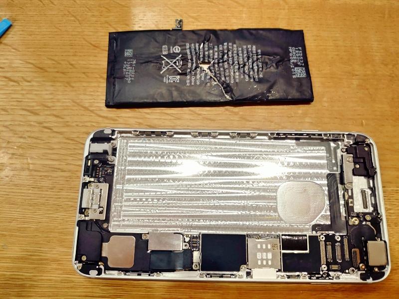 Apple iPhone 6 Plus バッテリー交換 -11-