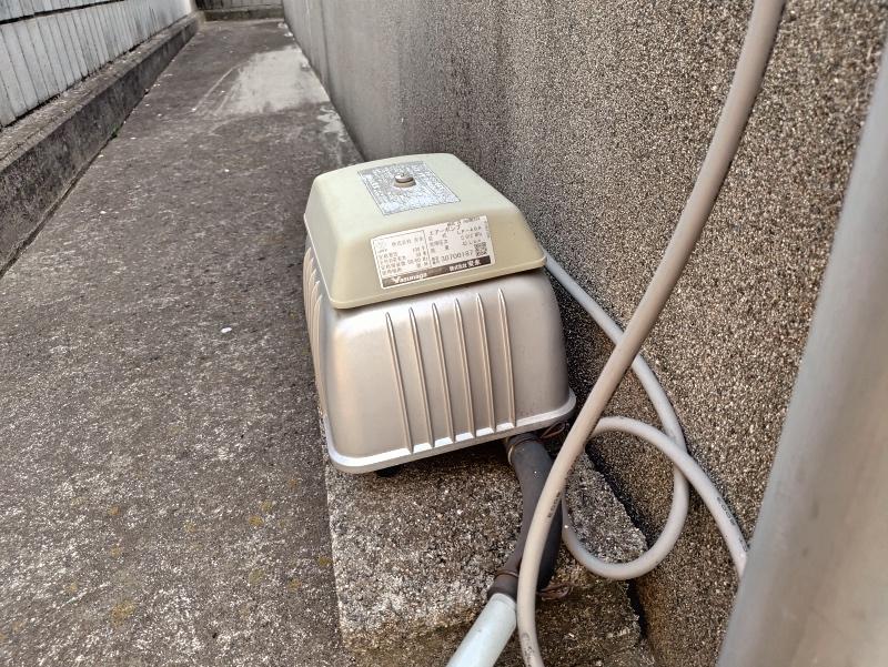 電磁波をたくさん放出していた 浄化槽 エアーポンプ