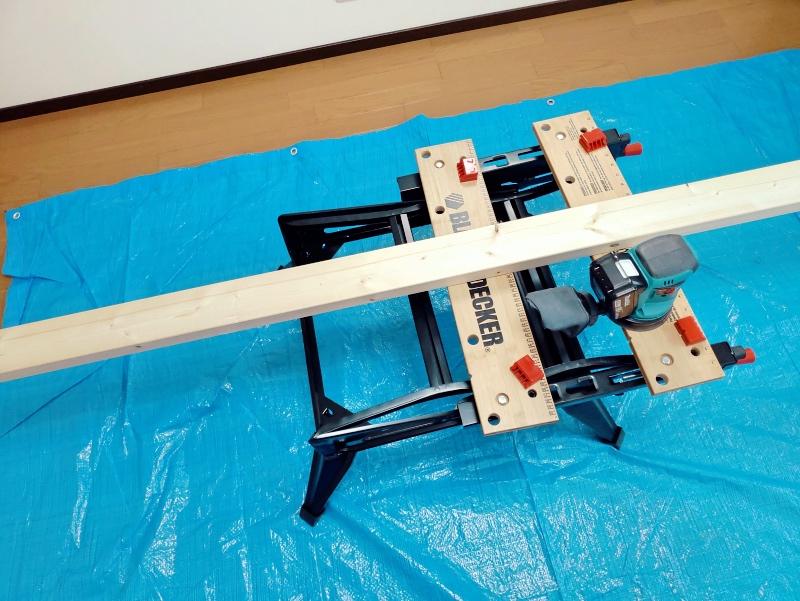 2x4木材とラブリコでハンガーラックを作る 支柱製作 -1-