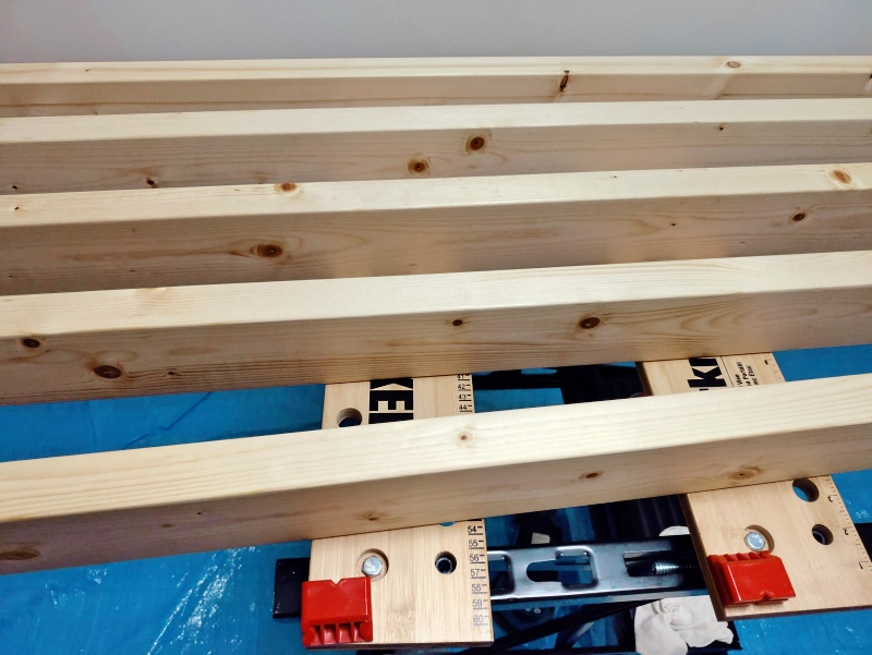 2x4木材とラブリコでハンガーラックを作る 支柱製作 -9-