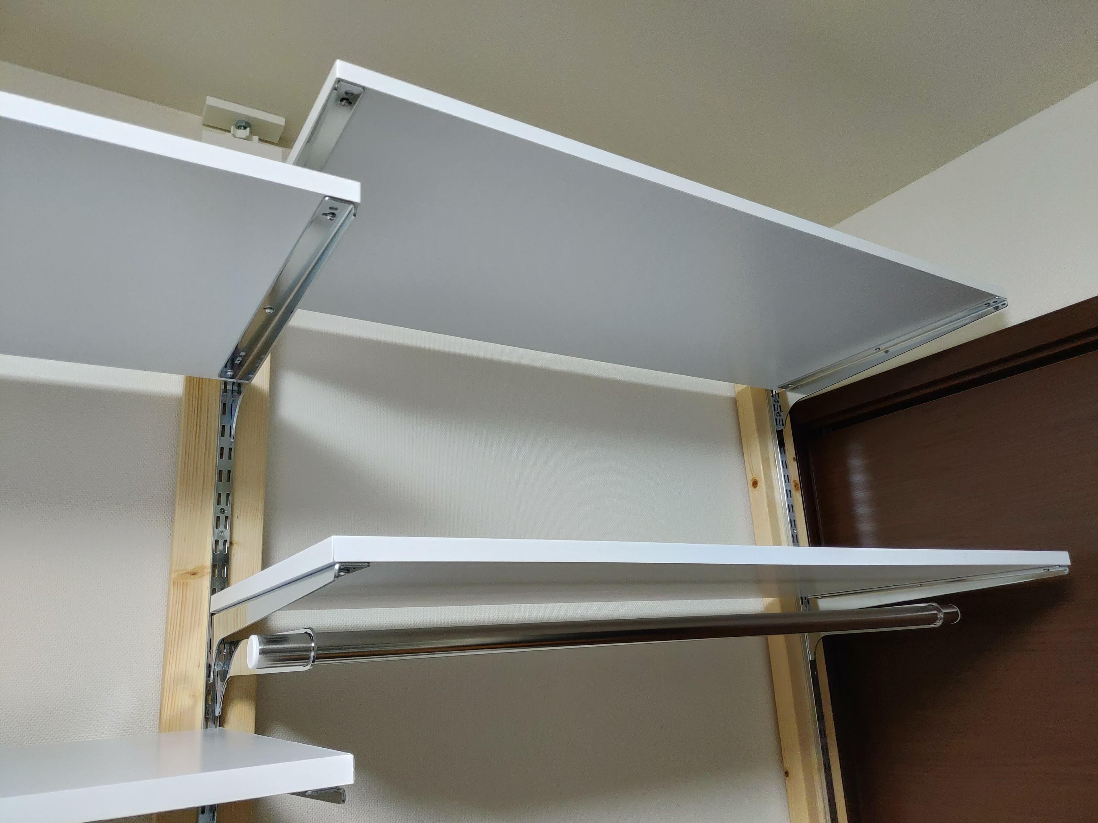 2x4木材とラブリコでハンガーラックを作る 支柱製作 棚2-2