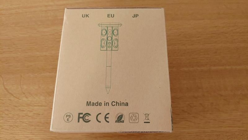 猫よけセンサー動物撃退機(ソーラー充電・USB充電・防水) -2-