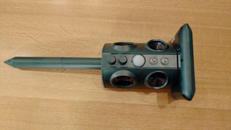 猫よけセンサー動物撃退機(ソーラー充電・USB充電・防水) -9-
